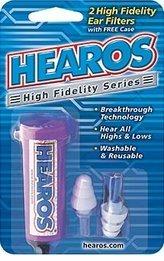 Hearos Earplugs Hi-Fi Natural Sound Musician's Ear Plugs (NRR 12)