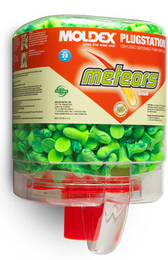 Moldex Meteors SMALL 6634 UF Foam Ear Plugs PlugStation (NRR 28) (Dispenser with 250 Unwrapped Pairs)