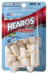Hearos 5502 SoftStar NexGen Series Foam Ear Plugs (NRR 30) (28 Pairs)