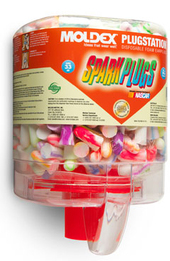 Moldex Spark Plugs 6644 UF Foam Ear Plugs PlugStation Dispenser (NRR 33) (Dispenser with 250 Unwrapped Pairs)