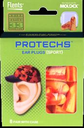 Flents PROTECHS Sport Foam Ear Plugs (NRR 33) (8 Pairs)