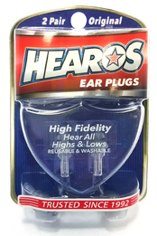 Hearos 2211 High Fidelity Series Ear Plugs (NRR 12) (2 Pairs w/ Case)
