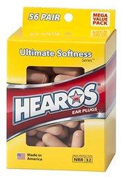 Hearos 5625 Original Formulation Ultimate Softness Series Foam Ear Plugs (NRR 32) (56 Pairs)