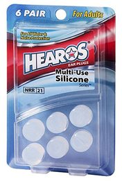 Hearos 5064 Multi-Use Silicone Series Ear Plugs (NRR 21) (6 Pairs)
