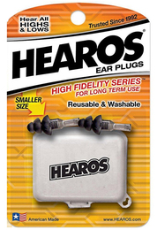 Hearos 2311 High Fidelity Series for Long Term Use Ear Plugs (NRR 12) (2 Pairs w/ Case)