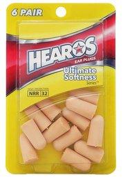 Hearos 5414 Original Formulation Ultimate Softness UF Foam Ear Plugs (NRR 32) (6 Pairs)
