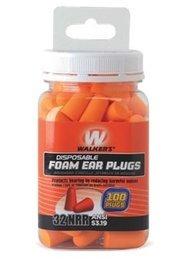 Walker GSM Disposable Foam Ear Plugs (NRR 32) (Bottle of 50 Pairs)