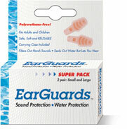 Cirrus EarGuards Combination Swim and Noise Ear Plugs for Adults and Children (NRR 20)