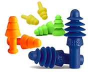 Industrial Reusable Ear Plugs by the Pair (1-50 Pairs)