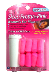 Hearos 2000 New Formulation and EZ Grip Design Sleep Pretty in Pink UF Foam Ear Plugs (NRR 32) (7 Pairs with Carry Case)