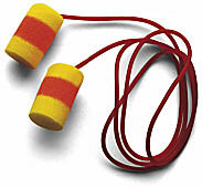 E-A-R Classic Superfit33 PVC Foam Ear Plugs Corded (NRR 33) (Box of 200 Pairs)