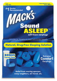 Mack's SoundAsleep Extreme Comfort Ear Plugs (NRR 32) (Pack of 12 Pairs)