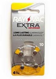 Rayovac 10A Premium 1.4v Zinc Air Hearing Aid Batteries (4x #10 batteries)