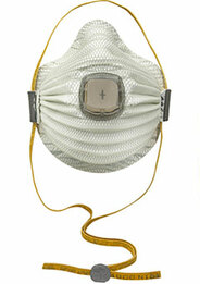 Moldex 4700N100 Airwave Disposable Respirator with Cloth SmartStrap, Full Face Flange + Ventex Valve Med/Lg Only (N100) (Case of 30 Masks)