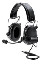 MT17H682FB-49 3M Peltor Dual Comm ComTac III w/Split Audio and Single Downlead ACH/MICH Helmet Compatible Two-Way Radio Headset, NATO Wired (Headset Only)