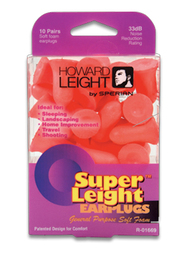 Howard Leight by Honeywell Super Leight Foam Ear Plugs (NRR 33) (10 Pair Pack)