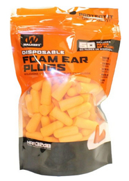 Walker GSM Disposable Foam Ear Plugs (NRR 32) (Bag of 50 Pairs)