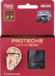 Flents PROTECHS Music Reusable Ear Plugs (NRR 27)