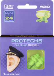 Flents PROTECHS Travel Reusable Ear Plugs (NRR 24/4)