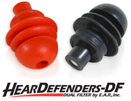HearDefenders-DF Dual Filtered Natural Sound Variable Noise Reduction Ear Plugs