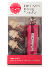 EarPeace High Fidelity Hearing Protection Ear Plugs (NRR 10)