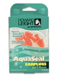 Howard Leight by Honeywell AquaSeal Swimming Ear Plugs (NRR 24) (2 Pairs)