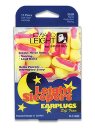 Howard Leight by Honeywell - Leight Sleepers Foam Ear Plugs for Sleeping (NRR 32) (10 Pair Pack)