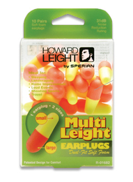 Howard Leight by Honeywell Multi Leight Dual-Ended Foam Ear Plugs (NRR 31) (10 Pairs)
