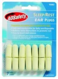 AOSafety Sleep/Rest Foam Ear Plugs (NRR 32) (7 Pairs)