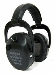 Pro Tac SC Gold Police and Military Electronic Ear Muffs Lithium Battery, OD Green (NRR 25)