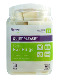 Flents Quiet! Please PVC Foam Ear Plugs (NRR 29) (Bottle of 50 Pairs)
