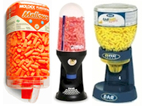 Foam Ear Plug Dispensers, Dispenser Refills and Vending Packs