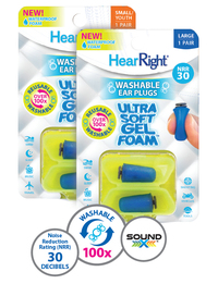 Splintek HearRight Ultra Soft Gel Foam Ear Plugs (NRR 23)