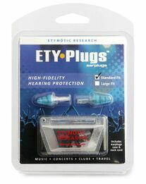 Etymotic Ety-Plugs Hi-Fi Musicians Ear Plugs - Standard Size (Blue or Frost Tip)