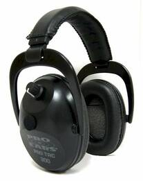 Pro Tac Plus Gold Police and Military Electronic Ear Muffs (NRR 26)