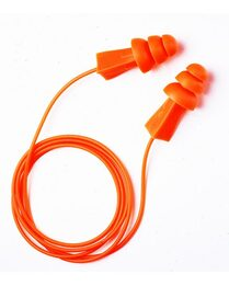 Tasco Tri-Grip Reusable Ear Plugs Corded (NRR 27) (Box of 100 Pairs)
