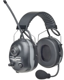 Elvex ConnecTunes Wireless BlueTooth-Capable Two-Way Electronic AM/FM Radio Ear Muffs w/Boom Microphone (NRR 22/SNR 27)