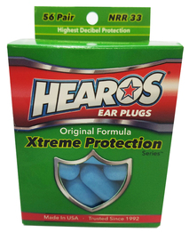 Hearos 5656 Xtreme Protection Series UF Foam Ear Plugs (NRR 33) (56 Pairs)