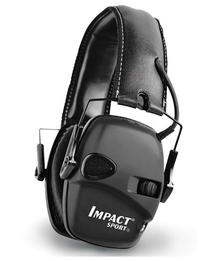Howard Leight by Honeywell Bilsom Impact Sport Tactical Folding Model Ear Muff (NRR 22) (Sturdy Case and Accessories Included!)