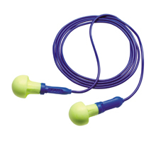 E-A-R Push-Ins No-Roll Foam Ear Plugs Corded (NRR 28)