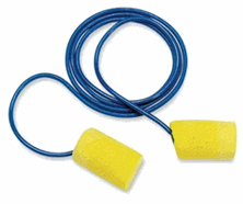 Corded Industrial Foam Ear Plugs by the Pair (1-50 Pairs)