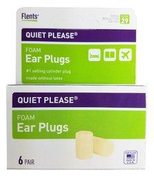 Flents Quiet! Please PVC Foam Ear Plugs (NRR 29) (6 Pairs)