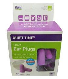 Flents Quiet Time Foam Ear Plugs (NRR 33) (10 Pairs)