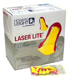Howard Leight by Honeywell Laser Lite UF Foam Ear Plugs (NRR 32) (Box of 50 Vending Packs, Each Containing 5 Pairs)