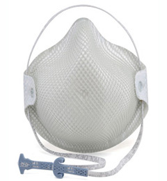Moldex 2600N95, 2601N95, 2607N95 Disposable Respirator with Cloth HandyStrap (N95) (Case of 180 Masks)