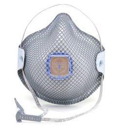 Moldex 2740R95, 2741R95 Disposable Respirator with Cloth HandyStrap + Ventex Valve (R95) (Case of 100 Masks)