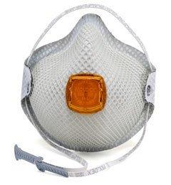 Moldex 2800N95 Plus Nuisance Organic Vapors Disposable Respirator with Cloth HandyStrap + Ventex Valve (N95+OV) (Case of 100 Masks)