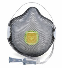 Moldex 2840R95 Plus Nuisance Organic Vapors Disposable Respirator with Cloth HandyStrap + Ventex Valve (R95+OV) (Case of 100 Masks)
