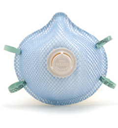 Moldex 2300N95, 2301N95, 2307N95 Classic Disposable Respirator with Latex Straps + Button Valve (N95) (Case of 100 Masks)