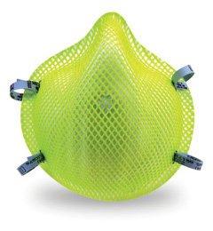 Moldex 2200HVN95 Hi-Viz Disposable Respirator with Latex Straps Med/Lg Only (N95) (Case of 240 Masks)